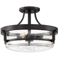 Quoizel QF3515PN Outpost 3 Light 15 inch Palladian Bronze Semi-Flush Mount Ceiling Light