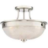 Quoizel QF3631PK Signature 3 Light 13 inch Polished Nickel Semi-Flush Mount Ceiling Light