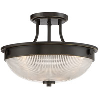 Quoizel QF3631PN Signature 3 Light 13 inch Palladian Bronze Semi-Flush Mount Ceiling Light