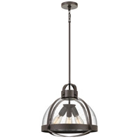 Quoizel QF4023PN Tyler 3 Light 17 inch Palladian Bronze Pendant Ceiling Light