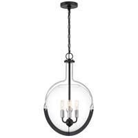Meloni 3 Light 15 inch Earth Black Pendant Ceiling Light