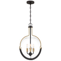 Meloni 3 Light 15 inch Western Bronze Pendant Ceiling Light