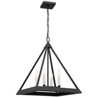 Quoizel QF4030EK Draper 4 Light 18 inch Earth Black Pendant Ceiling Light