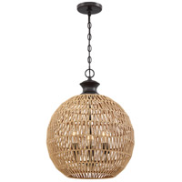 Casablanca 3 Light 18 inch Palladian Bronze Pendant Ceiling Light