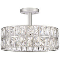 Quoizel QF4046PK Coffman 3 Light 14 inch Polished Nickel Semi-Flush Mount Ceiling Light