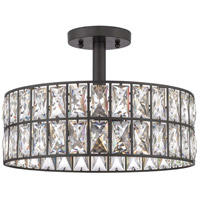 Quoizel QF4046WT Coffman 3 Light 14 inch Western Bronze Semi-Flush Mount Ceiling Light