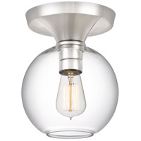 Quoizel QF4058PK Hawley 1 Light 8 inch Polished Nickel Semi-Flush Mount Ceiling Light