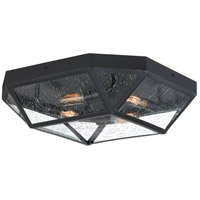 Quoizel QF4059K Pritchett 4 Light 18 inch Mystic Black Flush Mount Ceiling Light