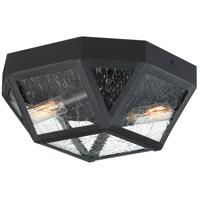 Quoizel QF4060K Montrose 2 Light 11 inch Mystic Black Flush Mount Ceiling Light