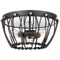 Springer 3 Light 15 inch Western Bronze Flush Mount Ceiling Light
