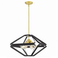 Quoizel QF5115WT Dorsey 4 Light 20 inch Western Bronze Pendant Ceiling Light