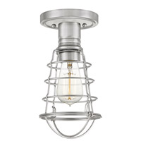 Quoizel QF5118BN Mixon 1 Light 6 inch Brushed Nickel Semi-Flush Mount Ceiling Light