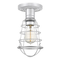 Quoizel QF5118C Mixon 1 Light 6 inch Polished Chrome Semi-Flush Mount Ceiling Light