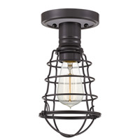 Quoizel QF5118PN Mixon 1 Light 6 inch Palladian Bronze Semi-Flush Mount Ceiling Light