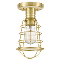 Quoizel QF5118Y Mixon 1 Light 6 inch Satin Brass Semi-Flush Mount Ceiling Light photo thumbnail