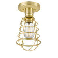 Quoizel QF5118Y Mixon 1 Light 6 inch Satin Brass Semi-Flush Mount Ceiling Light alternative photo thumbnail