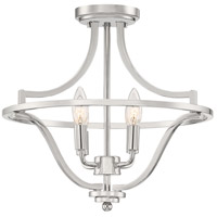 Quoizel QF5119PK Harvel 4 Light 16 inch Polished Nickel Semi-Flush Mount Ceiling Light