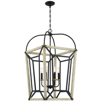 Quoizel QF5122EK Ashcroft 6 Light 20 inch Earth Black Foyer Chandelier Ceiling Light