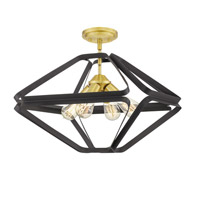 Quoizel QF5124WT Dorsey 4 Light 20 inch Western Bronze Semi-Flush Mount Ceiling Light