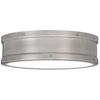 Quoizel QF5224AP Ahoy LED 13 inch Antique Polished Nickel Flush Mount Ceiling Light