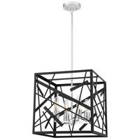 Quoizel QF5225MBK Pollock 4 Light 16 inch Matte Black Foyer Pendant Ceiling Light