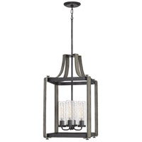 Quoizel QF5226WM Rowling 4 Light 16 inch Weathered White Maple Foyer Pendant Ceiling Light
