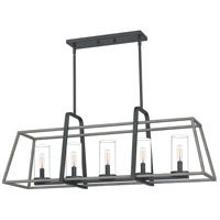 QF5277DO Quoizel Quoizel 5 Light 40 inch Distressed Iron Linear Chandelier Ceiling Light
