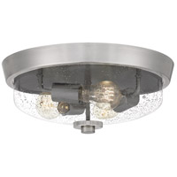 Quoizel QF5284BN Radius 3 Light 15 inch Brushed Nickel Flush Mount Ceiling Light