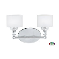 Quoizel QI8602C Quinton 2 Light 14 inch Polished Chrome Bath Light Wall Light in Frosted Halogen G9 alternative photo thumbnail