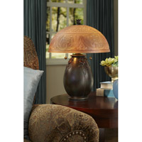 Quoizel QJ6781TR Signature 18 inch 60 watt Teco Rossa Table Lamp Portable Light alternative photo thumbnail