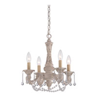 Quoizel Lighting Signature 4 Light Chandelier in Antique Ivory QMC1681AY