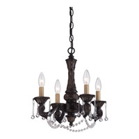 Quoizel Lighting Signature 4 Light Chandelier in Palladian Bronze QMC1681PN