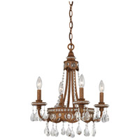 Quoizel QMC404BO Signature 4 Light 18 inch Bolivian Bronze Mini Chandelier Ceiling Light