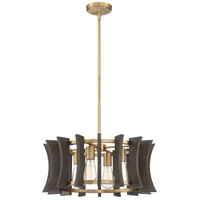 Quoizel QOP5196AB Cordelia 4 Light 21 inch Aged Brass Pendant Ceiling Light