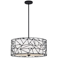 Quoizel QOP5274MBK Quoizel Oversized 4 Light 24 inch Matte Black Pendant Ceiling Light