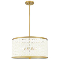 Quoizel QP5262AB Quoizel 5 Light 19 inch Aged Brass Pendant Ceiling Light