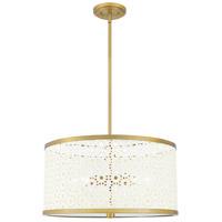 QP5262AB Quoizel Quoizel 5 Light 19 inch Aged Brass Pendant Ceiling Light