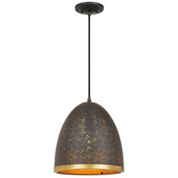 Quoizel QPP4024WT Delavan 1 Light 12 inch Western Bronze Mini Pendant Ceiling Light