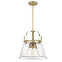 Quoizel QPP5113WS Wimberly 3 Light 14 inch Weathered Brass Mini Pendant Ceiling Light