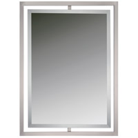 Quoizel QR1857BN Reflections 32 X 24 inch Brushed Nickel Wall Mirror