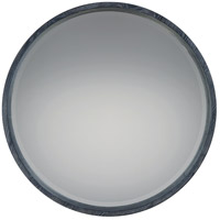 Quoizel QR2793 Reflections 26 X 26 inch Black With White Paint Wall Mirror