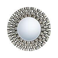 Quoizel Lighting Signature Mirror in Antique Silver QR981