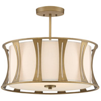 Quoizel QSF5187EY Woodmere 4 Light 20 inch Egyptian Gold Semi-Flush Mount Ceiling Light