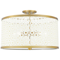 QSF5262AB Quoizel Quoizel 5 Light 19 inch Aged Brass Semi-Flush Mount Ceiling Light