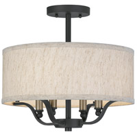 QSF5286WT Quoizel Quoizel 4 Light 15 inch Western Bronze Semi-Flush Mount Ceiling Light