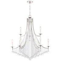 Queenship 9 Light 32 inch Polished Nickel Chandelier Ceiling Light