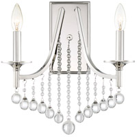 Queenship 2 Light 14 inch Polished Nickel Wall Sconce Wall Light, Small
