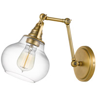 Quoizel QW4070WS Elmdale 1 Light 7 inch Weathered Brass Wall Sconce Wall Light
