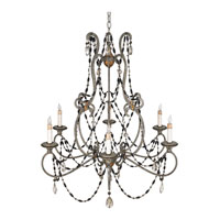 Quoizel Lighting Bergamo 6 Light Chandelier in Century Silver Leaf And Mayan Gold RBG5006CSM photo thumbnail