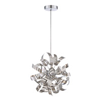 Ribbons 3 Light 12 inch Polished Chrome Mini Pendant Ceiling Light